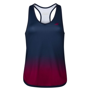 Top y Camisetas Niña Babolat Compete Top Nina  Estate Blue/Vivacious Red 2GF200714054