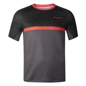 Polo y Camisetas de Tenis Babolat Nino Compete Camiseta  Black/Poppy Red 2BF200112017