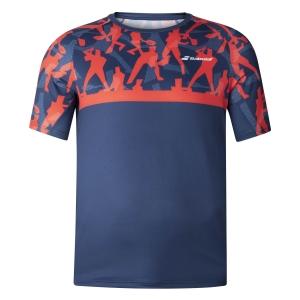 Polo y Camisetas de Tenis Babolat Nino Compete Camiseta  Poppy Red/Estate Blue 2BF200115034