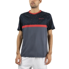 Babolat Compete Crew T-Shirt - Black/Poppy Red