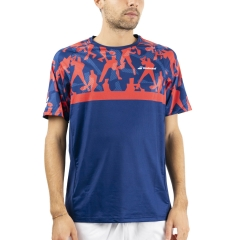 Babolat Compete Crew T-Shirt - Poppy Red/Estate Blue