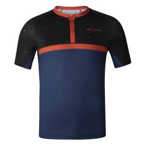 Polo y Camisetas de Tenis Babolat Compete Polo Nino  Black/Estate Blue 2BF200212018