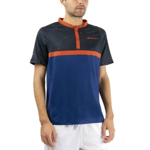 Men's Tennis Polo Babolat Compete Polo  Black/Estate Blue 2MF200212018