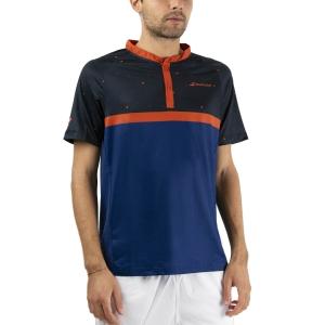 Polo Tenis Hombre Babolat Compete Polo  Black/Estate Blue 2MF200212018