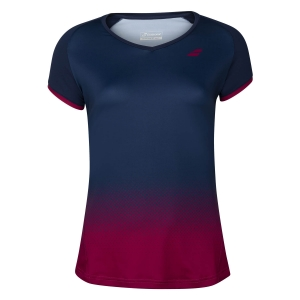 Top y Camisetas Niña Babolat Compete Camiseta Nina  Estate Blue/Vivacious Red 2GF200314054