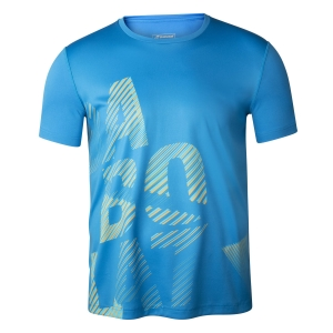 Tennis Polo and Shirts Babolat Exercise Big TShirt Boys  Blue Aster 4BTA0174049