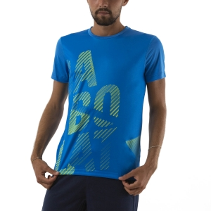 Men's Tennis Shirts Babolat Exercise Big TShirt  Blue Aster 4MTA0174049
