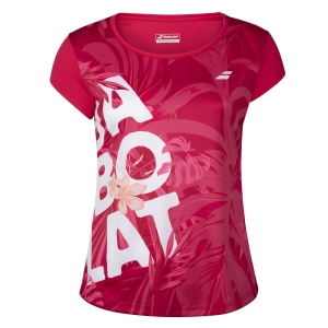 Top y Camisetas Niña Babolat Exercise Club Graphic Camiseta Nina  Red Rose 4GTA0125028