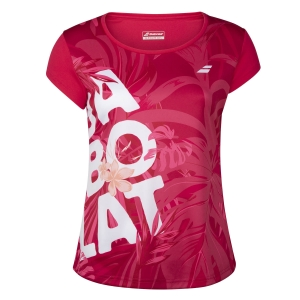 Women`s Tennis T-Shirts and Polos Babolat Exercise Graphic TShirt  Red Rose 4WTA0125028