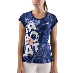 Camisetas y Polos de Tenis Mujer Babolat Exercise Graphic Camiseta  Estate Blue 4WTA0124000