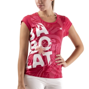 Camisetas y Polos de Tenis Mujer Babolat Exercise Graphic Camiseta  Red Rose 4WTA0125028