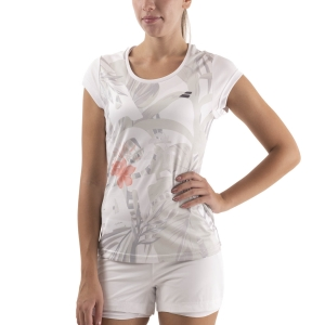 Women`s Tennis T-Shirts and Polos Babolat Exercise Graphic TShirt  White 4WTA0121000