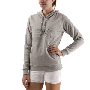 Women's Tennis Shirts and Hoodies Babolat Exercise Hood Hoodie  High Rise Heather 4WTA0413002
