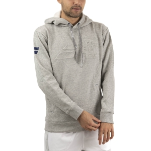 Men's Tennis Shirts and Hoodies Babolat Exercise Hoodie  High Rise Heather 4MTA0413002