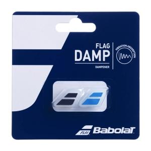 Vibration Dampener Babolat Flag x 2 Dampeners  Black/Blue 700032146