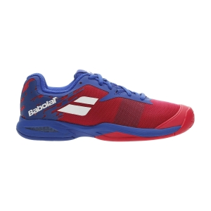 Junior Tennis Shoes Babolat Jet All Court Junior  Poppy Red/Estate Blue 33F206485034