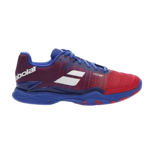 Scarpe Tennis Uomo Babolat Jet Mach II All Court  Poppy Red/Estate Blue 30F206295034