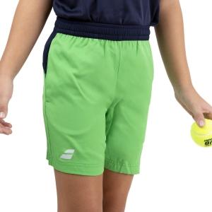 Tennis Shorts and Pants for Boys Babolat Play Club 5in Shorts Boys  Poison Green 3BTA0618000