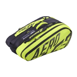 Tennis Bag Babolat Pure Aero x 12 Bag  Black/Yellow 751211142