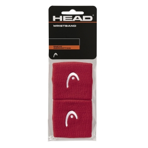 Muñequeras Tenis Head Logo 2.5in Munequeras  Red 285050 RD
