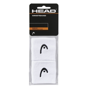 Tennis Wristbands Head Logo 2.5in Wristbands  White 285050 WH