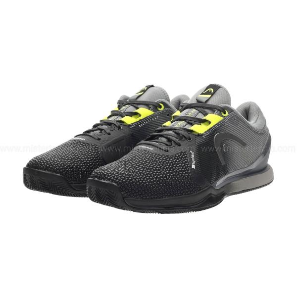 Head Sprint Pro SF 3.0 Clay - Black/Yellow
