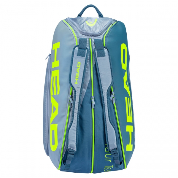Head Tour Team Extreme Monstercombi 2020 x 12 Bag - Grey/Neon Yellow
