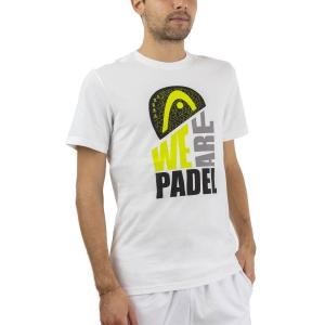 Maglietta Tennis Uomo Head WAP Maglietta  White 811680 WH