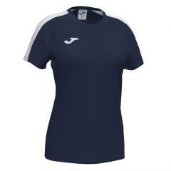 Joma Academy III T-Shirt Girls - Dark Navy/White