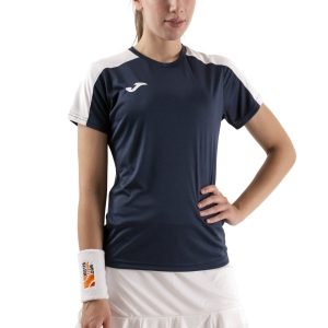 Women`s Tennis T-Shirts and Polos Joma Academy III TShirt  Dark Navy/White 901141.332