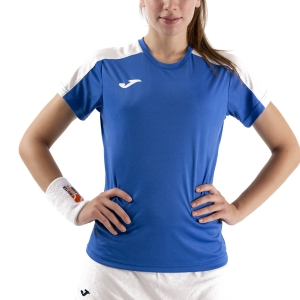 Women`s Tennis T-Shirts and Polos Joma Academy III TShirt  Royal/White 901141.702
