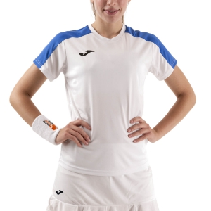 Women`s Tennis T-Shirts and Polos Joma Academy III TShirt  White/Royal 901141.207