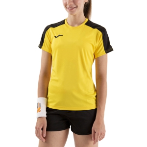 Women`s Tennis T-Shirts and Polos Joma Academy III TShirt  Yellow/Black 901141.901