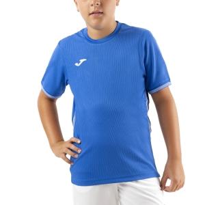 Polo y Camisetas de Tenis Joma Campus III Camiseta Nino  Royal/White 101587.700