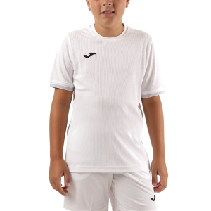 Polo y Camisetas de Tenis Joma Campus III Camiseta Nino  White 101587.200