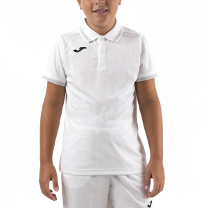 Tennis Polo and Shirts Joma Campus III Polo Boy  White/Black 101588.200