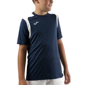 Tennis Polo and Shirts Joma Championship V TShirt Boys  Dark Navy/White 101264.332