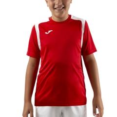 Joma Championship V T-Shirt Boys - Red/White