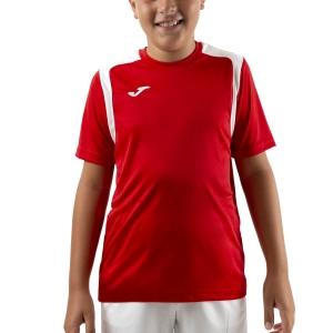 Tennis Polo and Shirts Joma Championship V TShirt Boys  Red/White 101264.602