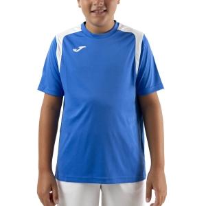 Tennis Polo and Shirts Joma Championship V TShirt Boys  Royal/White 101264.702