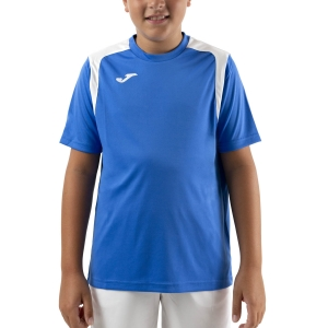 Polo y Camisetas de Tenis Joma Championship V Camiseta Nino  Royal/White 101264.702