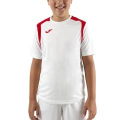 Joma Championship V T-Shirt Boys - White/Red