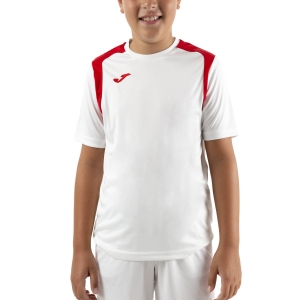 Tennis Polo and Shirts Joma Championship V TShirt Boys  White/Red 101264.206