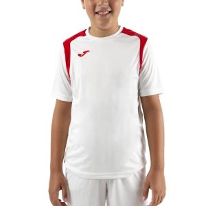Polo y Camisetas de Tenis Joma Championship V Camiseta Nino  White/Red 101264.206
