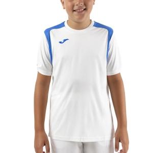 Tennis Polo and Shirts Joma Championship V TShirt Boys  White/Royal 101264.207