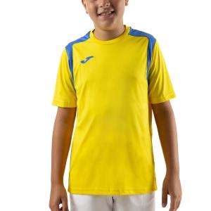 Tennis Polo and Shirts Joma Championship V TShirt Boys  Yellow/Royal 101264.907