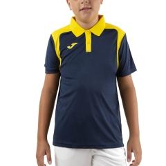 Joma Championship V Polo Boy - Dark Navy/Yellow