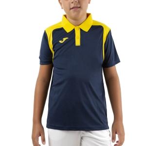 Tennis Polo and Shirts Joma Championship V Polo Boy  Dark Navy/Yellow 101265.339