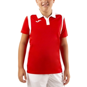 Tennis Polo and Shirts Joma Championship V Polo Boy  Red/White 101265.602