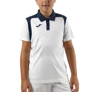 Tennis Polo and Shirts Joma Championship V Polo Boy  White/Dark Navy 101265.203
